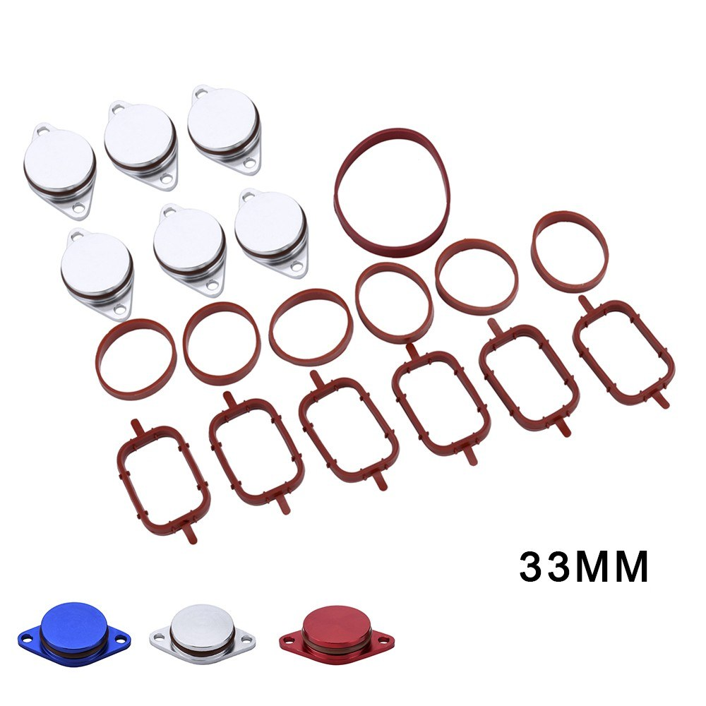 6 X 33MM Diesel Swirl Flap Blanks Intake Manifold Gaskets Repair Replacement Kit for BMW