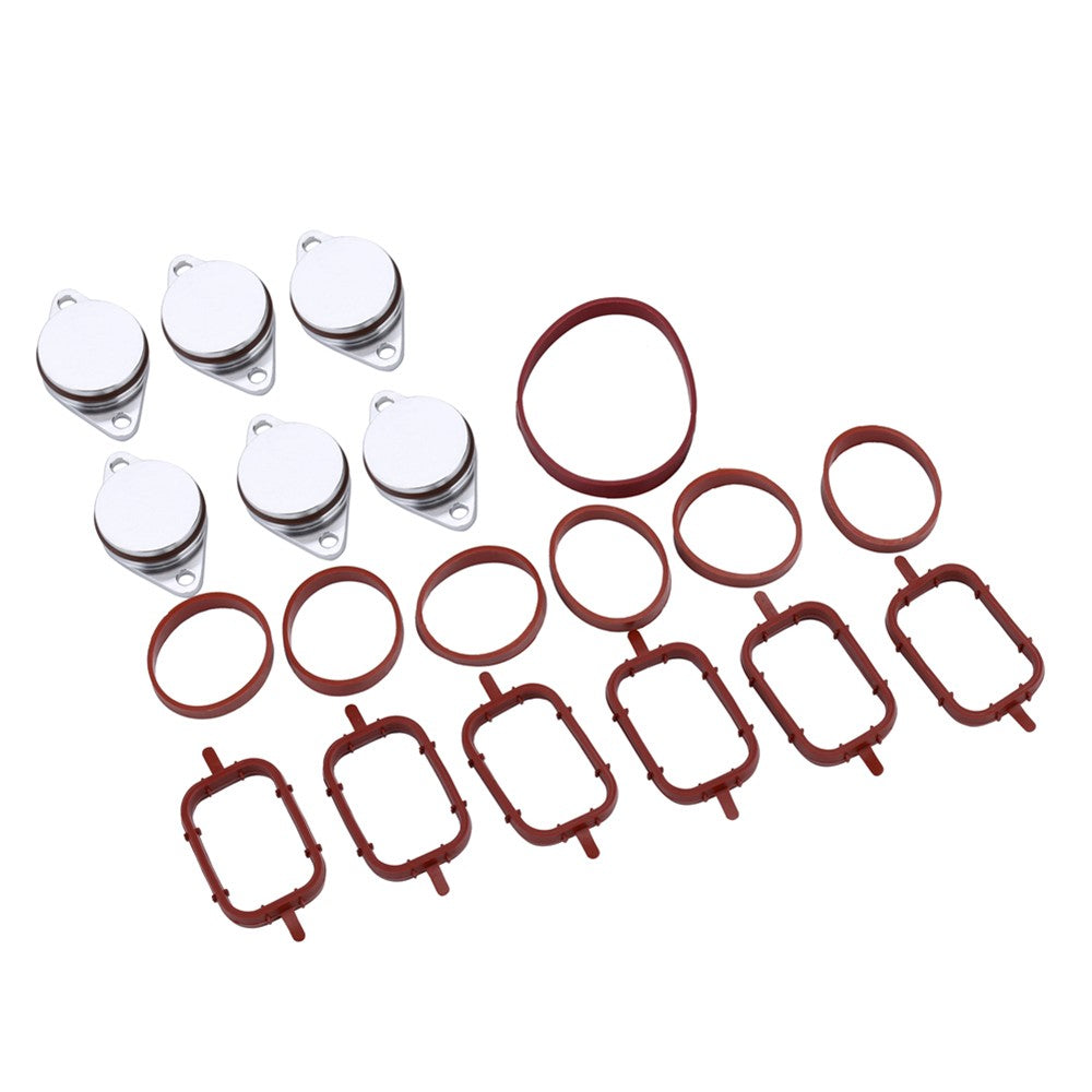 Go2Funlive 6 X 33Mm Diesel Swirl Flap Blanks Intake Manifold Gaskets Repair Replacement Kit For Bmw