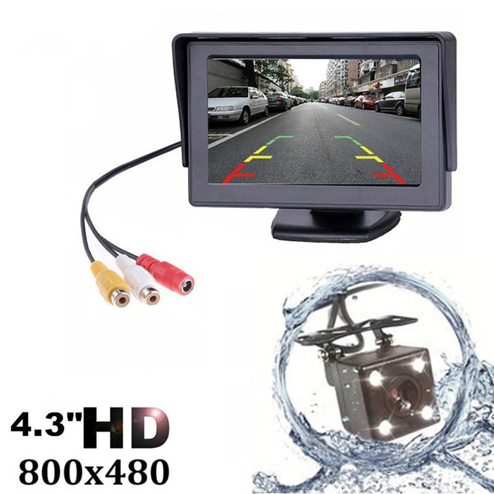 Go2Funlive 4.3 Inch Tft Lcd Car Rear View Backup Monitor Camera Kit