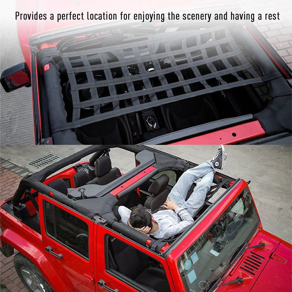 Car Roof Top Soft Cover Rest Bed Hammock for Jeep Wrangler JK 07-18