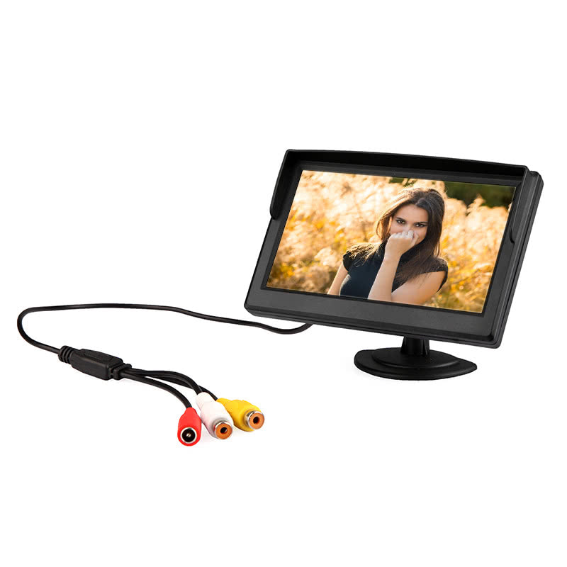 Go2Funlive 5 Inch Digital Color Tft Lcd Car Reverse Monitor For Rearview Camera Dvd Vcr