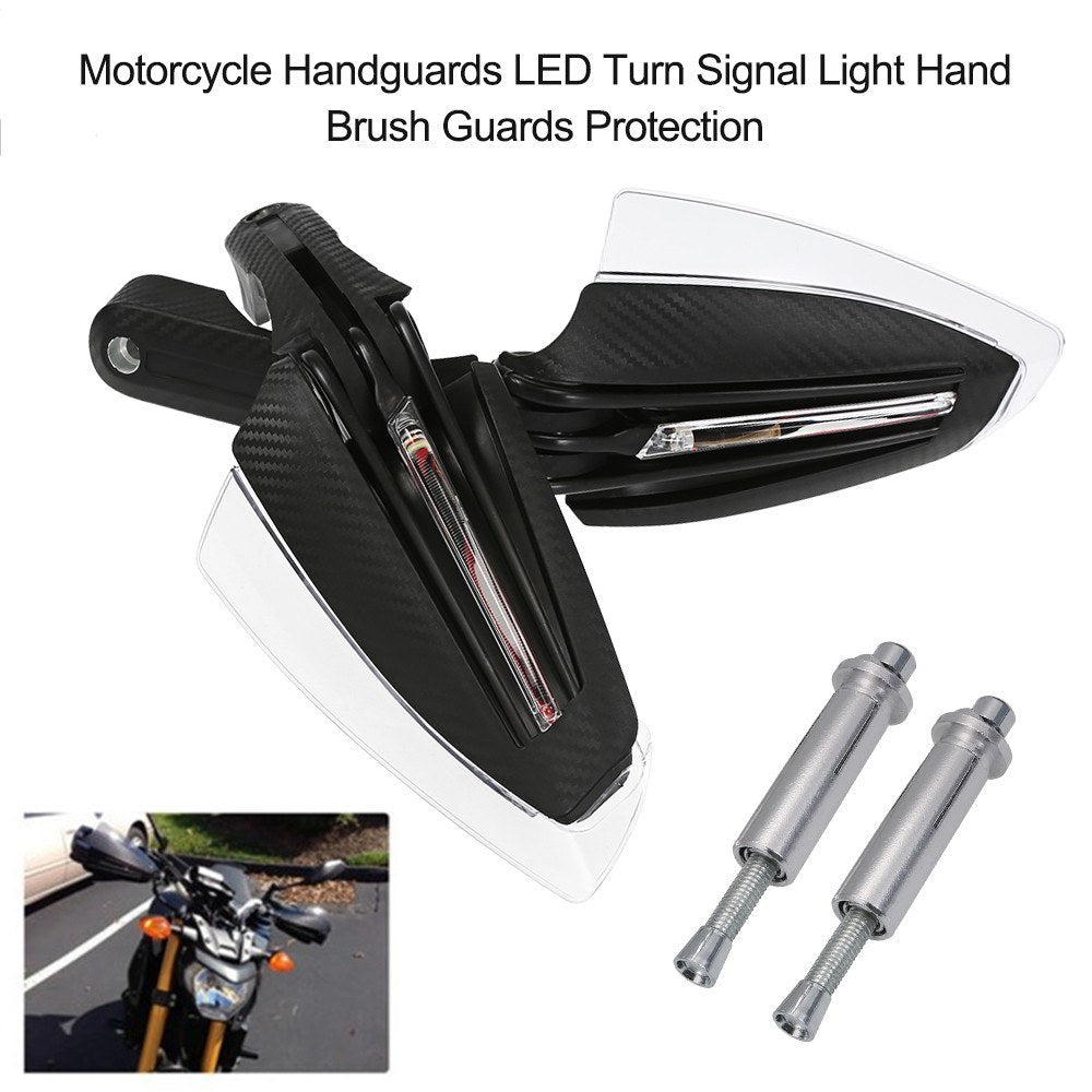 Go2Funlive Motorcycle Handguards Led Turn Signal Light Hand Brush Guards Protection