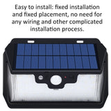 Go2Funlive Usb Rechargeable 53 Led Solar Power Remote Sensing Wall Lights Energy Saving Street Courtyard Corridor Home Garden Security Lamp With Remote Control