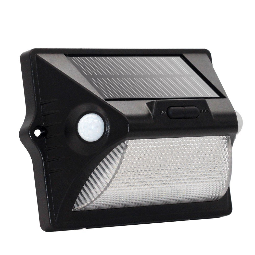 Go2Funlive Solar Power Human Body Induction Outdoor Rechargeable Wall Light