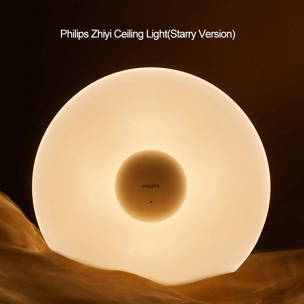 Go2Funlive Ac110-240V 33W Philips Zhiyi Ceiling Light 512Mm Starry Version Supported Different Scenes Setting/ Brightness Adjustable Dimmable/ Color Temperature Changing/ Wifi Work With Zhiyi App/ Zhirui Remote Control/ Wall Switch