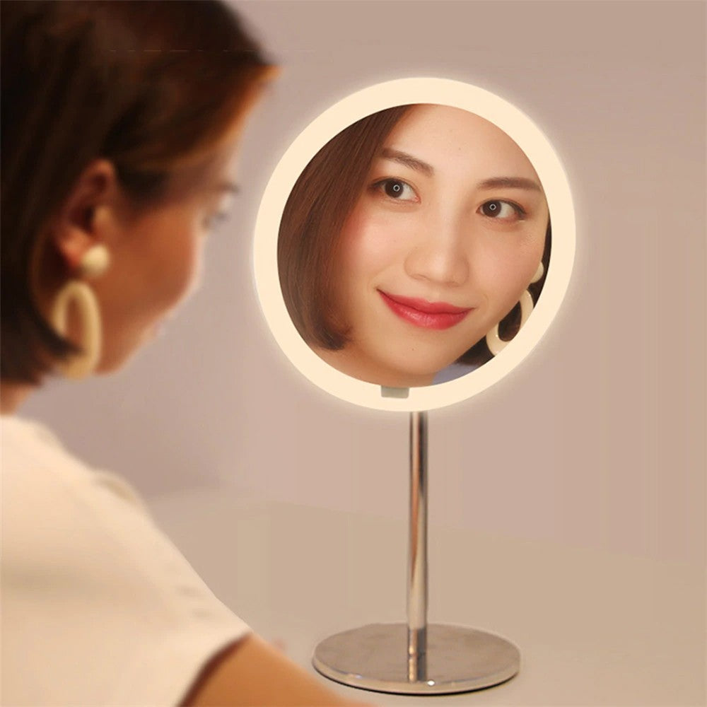 Go2Funlive Yeelight Leds Makeup Mirror Light Touching Control Usb Rechargeable Motion Sensor Dimmable 3 Lighting Colors Eye Protection Night Light For Dresser Table