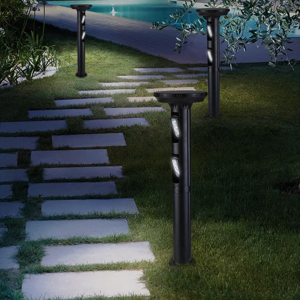 Go2Funlive Rotatable Solar Leds Lawn Light Outdoor Landscape Garden Yard Pathway Spotlight