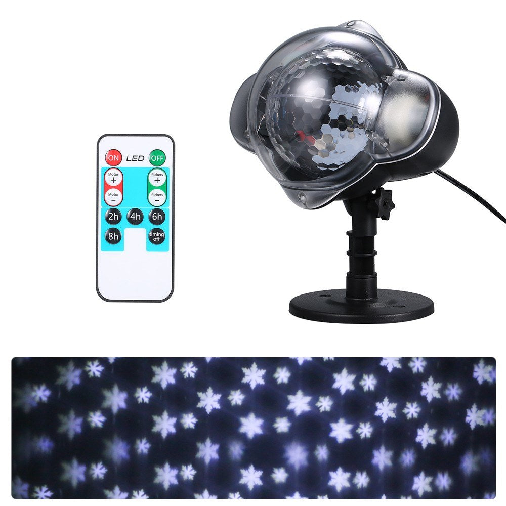 Go2Funlive Snowflake Outdoor Decorative Projection Lamp Waterproof Lawn Christmas Decoration Light