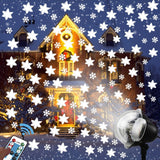 Snowflake Outdoor Decorative Projection Lamp Waterproof Lawn Christmas Decoration Light