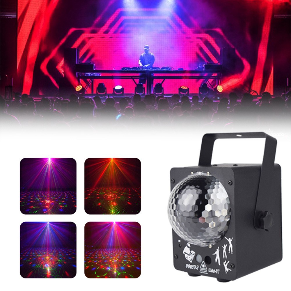 Go2Funlive Ac100-240V Portable Energy Saving 60 Pattern Mini Bt Sound Magic Ball Lottomr Lamp Multi-Function Family Party Ktv Flash Lamp