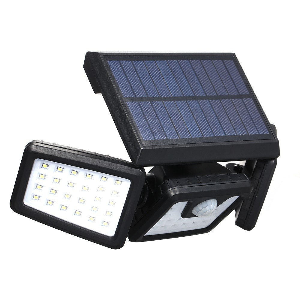 Go2Funlive Portable Energy Saving 70 Bulbs Three Heads Rotatable Fully Automated Operation Solar Induction Lamp