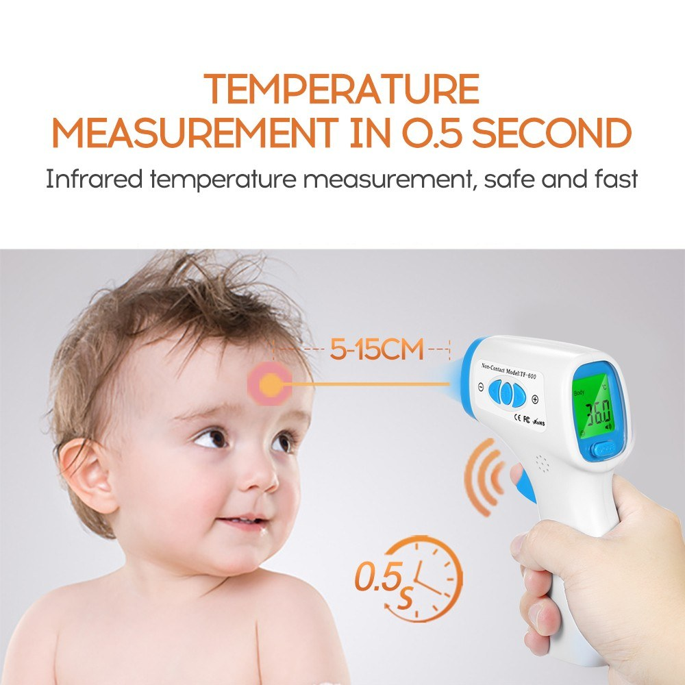 Go2Funlive Mini Digital Infrared Baby Ear Forehead Thermometer Temperature Gauge Instrument For Kids Children And Adults