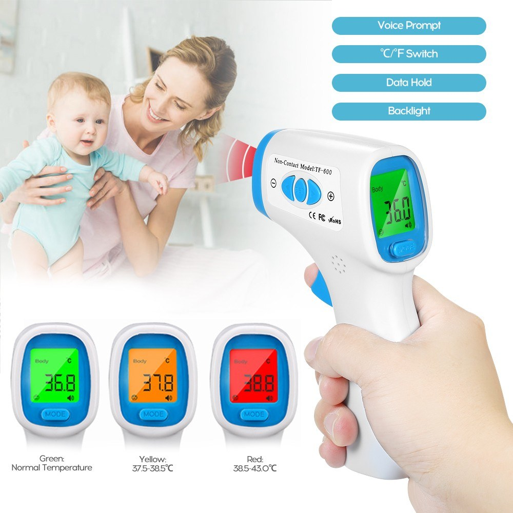 Mini Digital Infrared Baby Ear Forehead Thermometer Temperature Gauge Instrument for Kids Children and Adults
