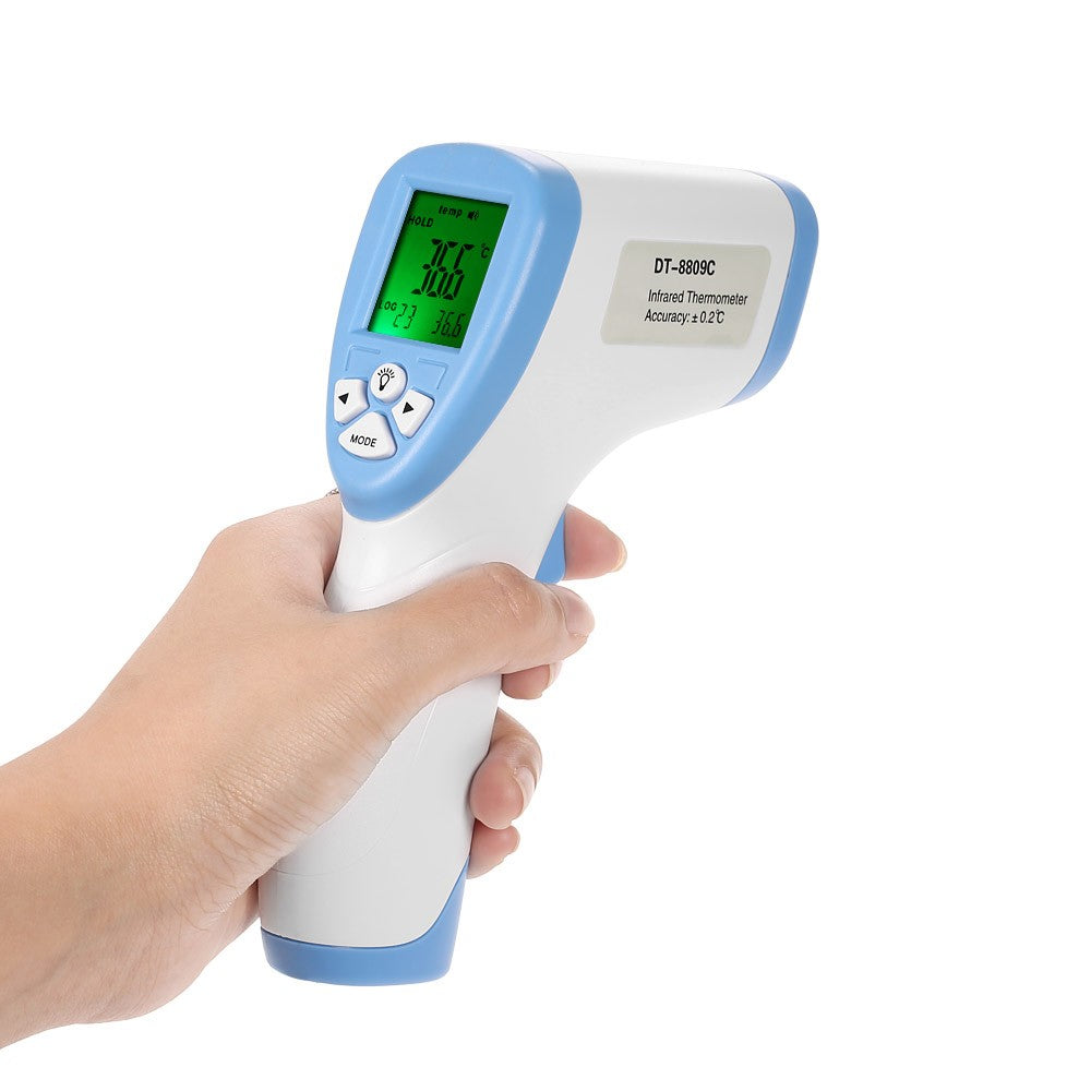 Go2Funlive Digital Lcd Non-Contact Ir Infrared Thermometer Forehead Body Surface Temperature Measurement Data Hold Function