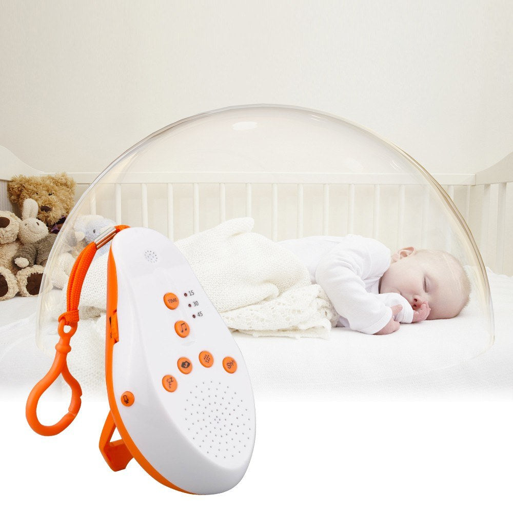 Go2Funlive Usb Rechargeable Portable Baby Sleep Sound Machine 16 Soothing Sounds Voice Sensor Activation Sleep Soother With Timer Voice Recording Function--Orange
