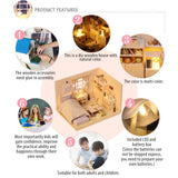 Go2Funlive 3D Japanese Style Plain Room Assemble Dollroom Furniture Miniature Dollhouse Diy House Room Miniatures Toys For Children Creative Gift With Music Named City Of Sky