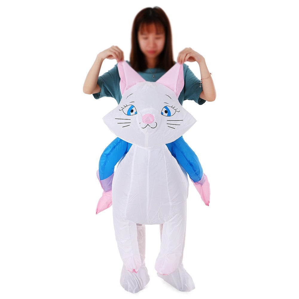 Go2Funlive Cat Inflatable Costume Props Blow Up Inflatable Fancy Dress For Halloween Cosplay Party Stage Performance For Kids Children Baby
