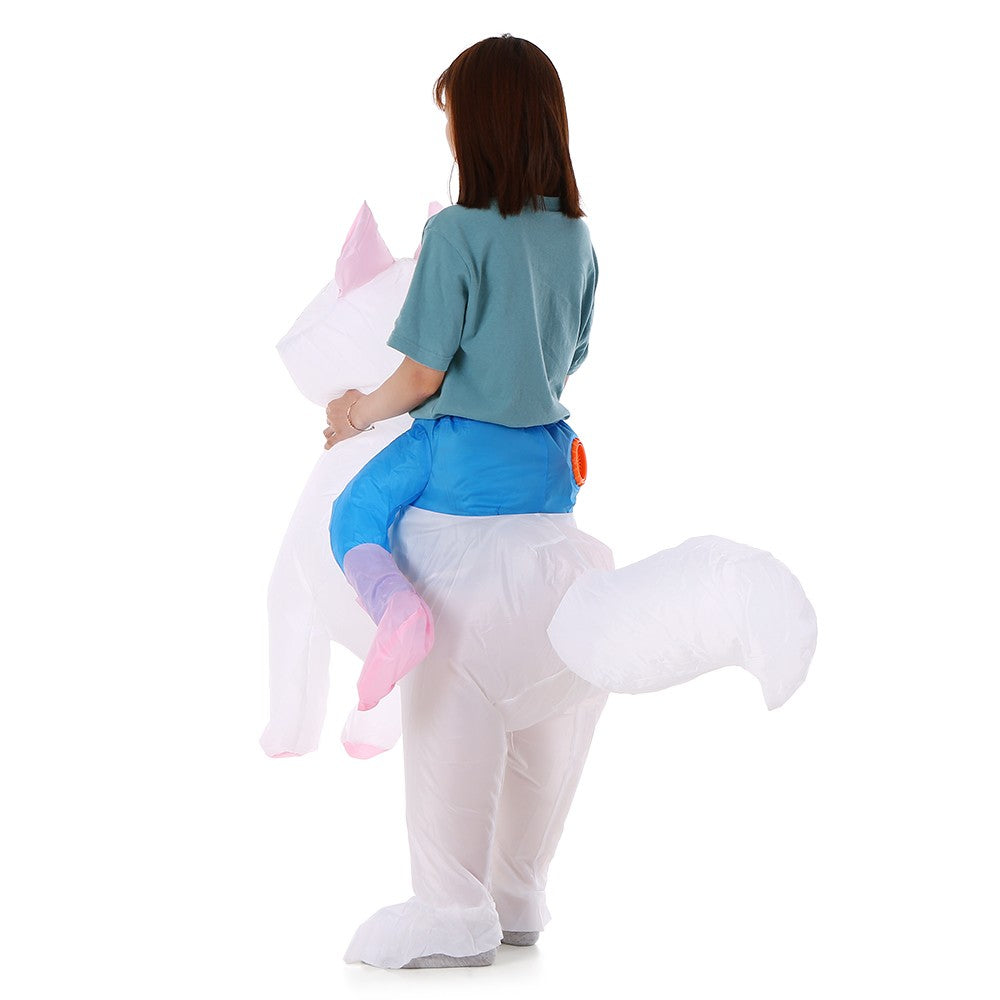 Cat Inflatable Costume Props Blow Up Inflatable Fancy Dress for Halloween Cosplay Party Stage Performance for Kids Children Baby