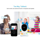 Go2Funlive 2.4 Inches Color Lcd Wireless Digital Video Baby Monitor With Lullabies Infrared Night Vision Two-Way Talk Back Temperature Monitoring Function Long Range And High Capacity Battery Ac100-240V Us Plug