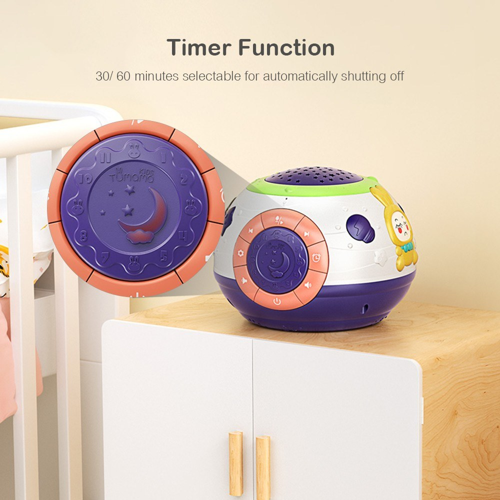 Go2Funlive Tumama Baby Musical Toy And Star Projector Lamp Piano Music Playing White Noise Sound Machine Safe Material For Infants Toddler Kids Children
