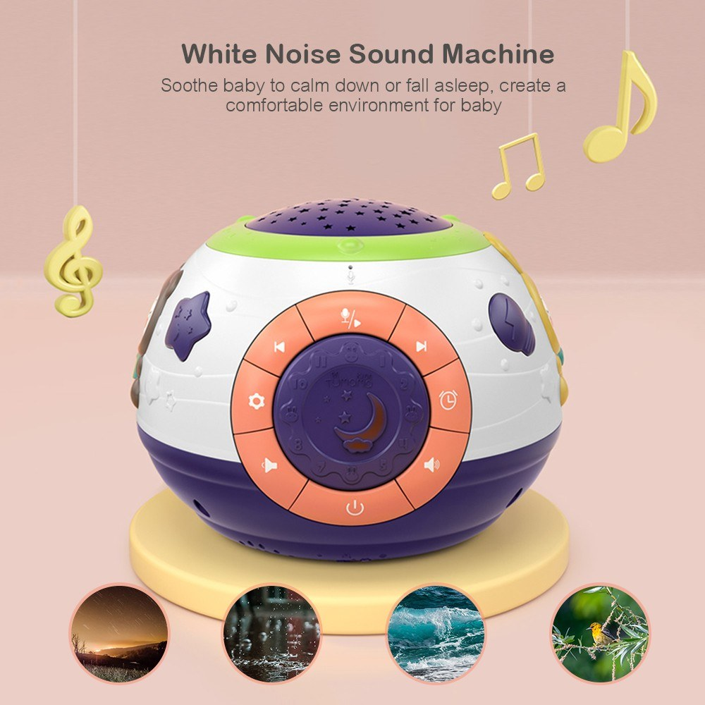 tumama Baby Musical Toy and Star Projector Lamp Piano Music Playing White Noise Sound Machine Safe Material for Infants Toddler Kids Children
