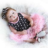 Go2Funlive 22Inch 55Cm Reborn Baby Doll Girl Full Silicone Princess Doll Baby Bath Toy With Clothes Lifelike Cute Gifts Toy
