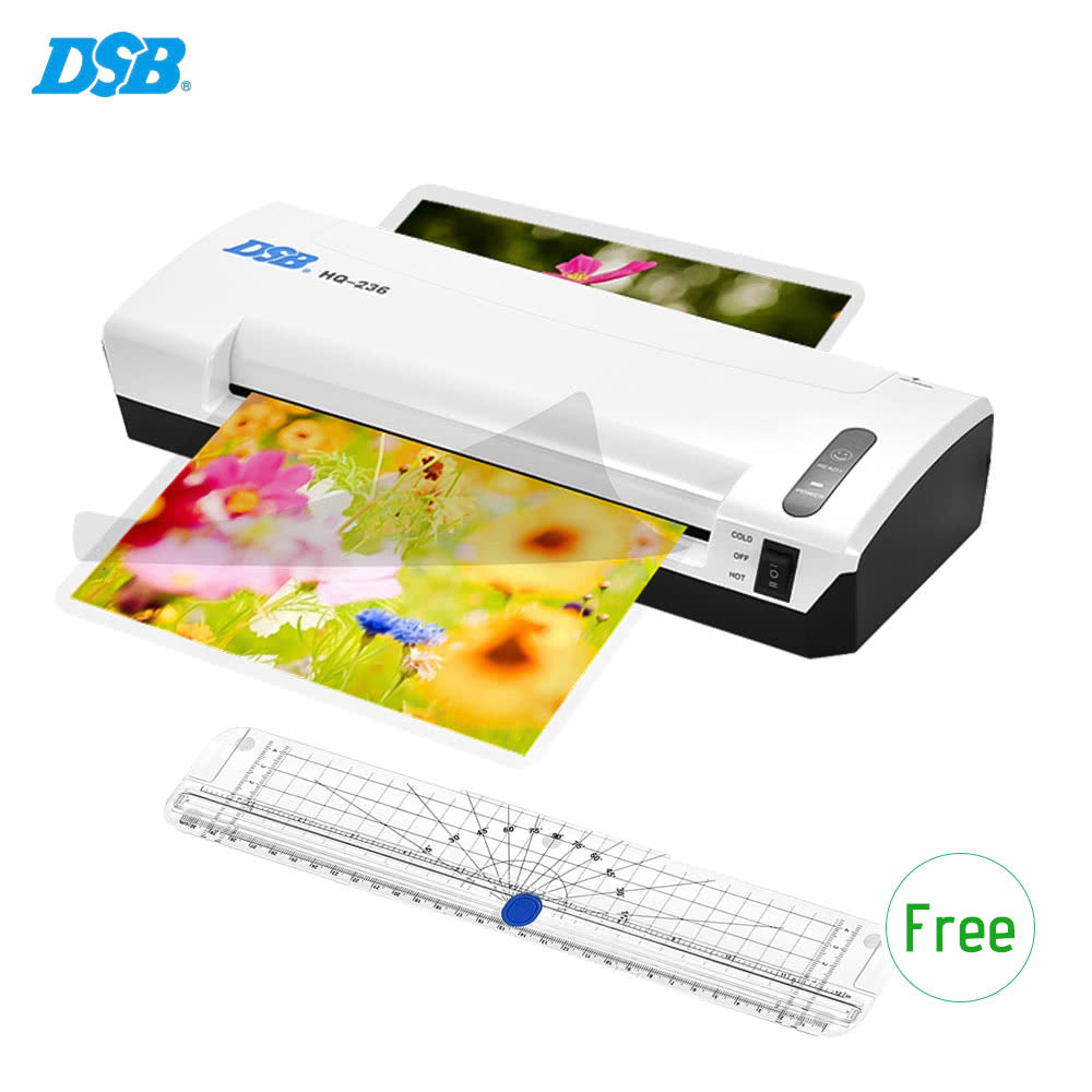 Go2Funlive Dsb Hq-236 A4 Photo Hot Cold Laminator Free Paper Trimmer Cutter 1.5-2Min Warm Up 400Mm/Min Fast Speed For 80-125Mic Film Laminating With Jam Release Eu Plug