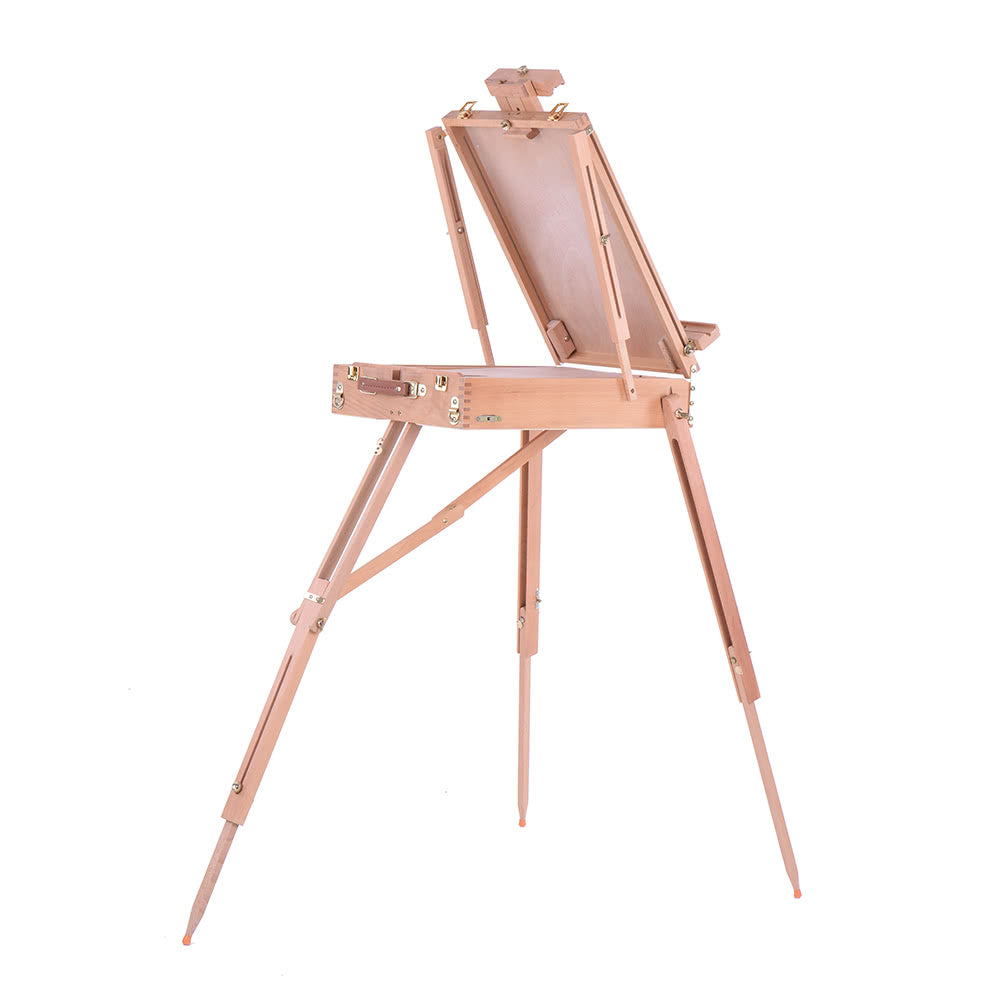 Go2Funlive Professional Folding Art Artist Wood Wooden Easel Paint Sketch Drawing Box Tripod Stand For Oil Painting Sketching