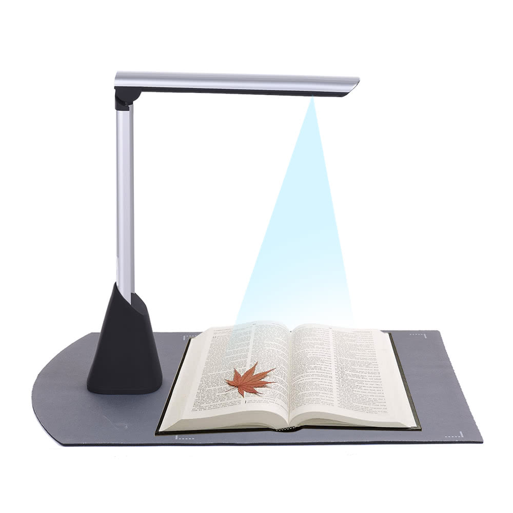 Go2Funlive Portable High Speed Usb Book Image Document Camera Scanner 10 Mega-Pixel Hd High-Definition Max. A4 Scanning Size With Ocr Function Led Light For Classroom Office Library Bank