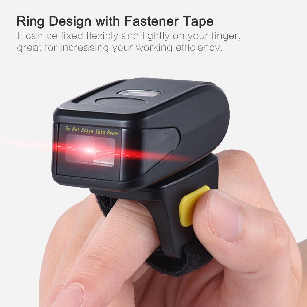 Go2Funlive Portable Handheld Bluetooth Wireless Ring Finger Scanner