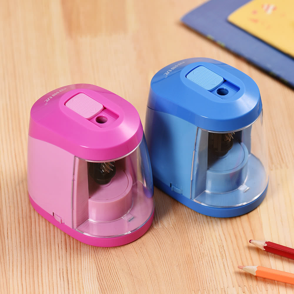 Go2Funlive Automatic Electric Pencil Sharpener Battery Or Usb Powered With 3 Graphite Point Tip Modes For Home School Classroom Student Artist Crafts Kids Blue
