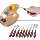Go2Funlive 9Pcs Palette Knives Painting Mixing Scrapers Spatula Art Tools Set For Oil Painting Special Effects Artist