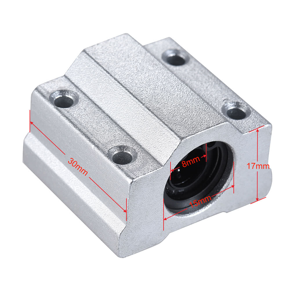 Go2Funlive Scs8Uu 8Mm Linear Motion Ball Bearing Block Cnc Router Slide Unit Reprap 3D Printer Diy Kit Parts Accessories