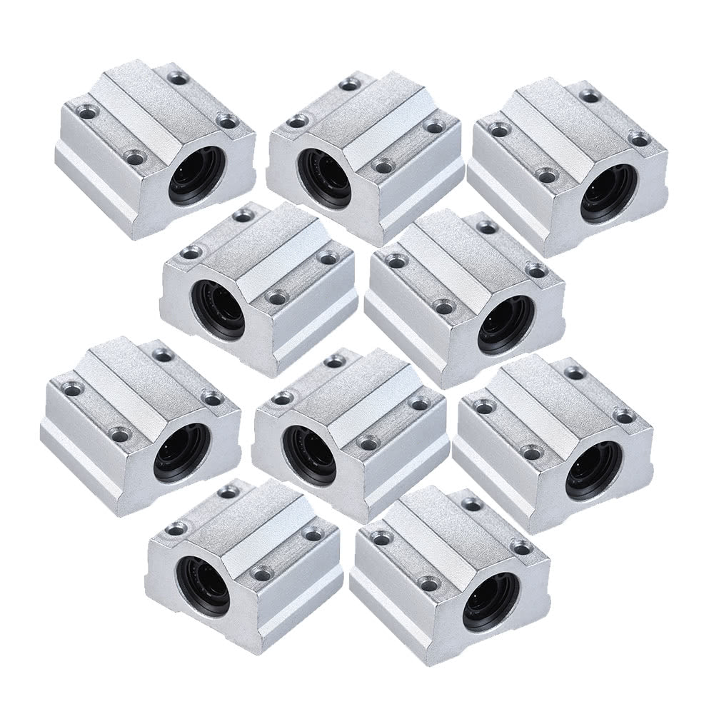 SCS8UU 8mm Linear Motion Ball Bearing Block CNC Router Slide Unit Reprap 3D Printer DIY Kit Parts Accessories