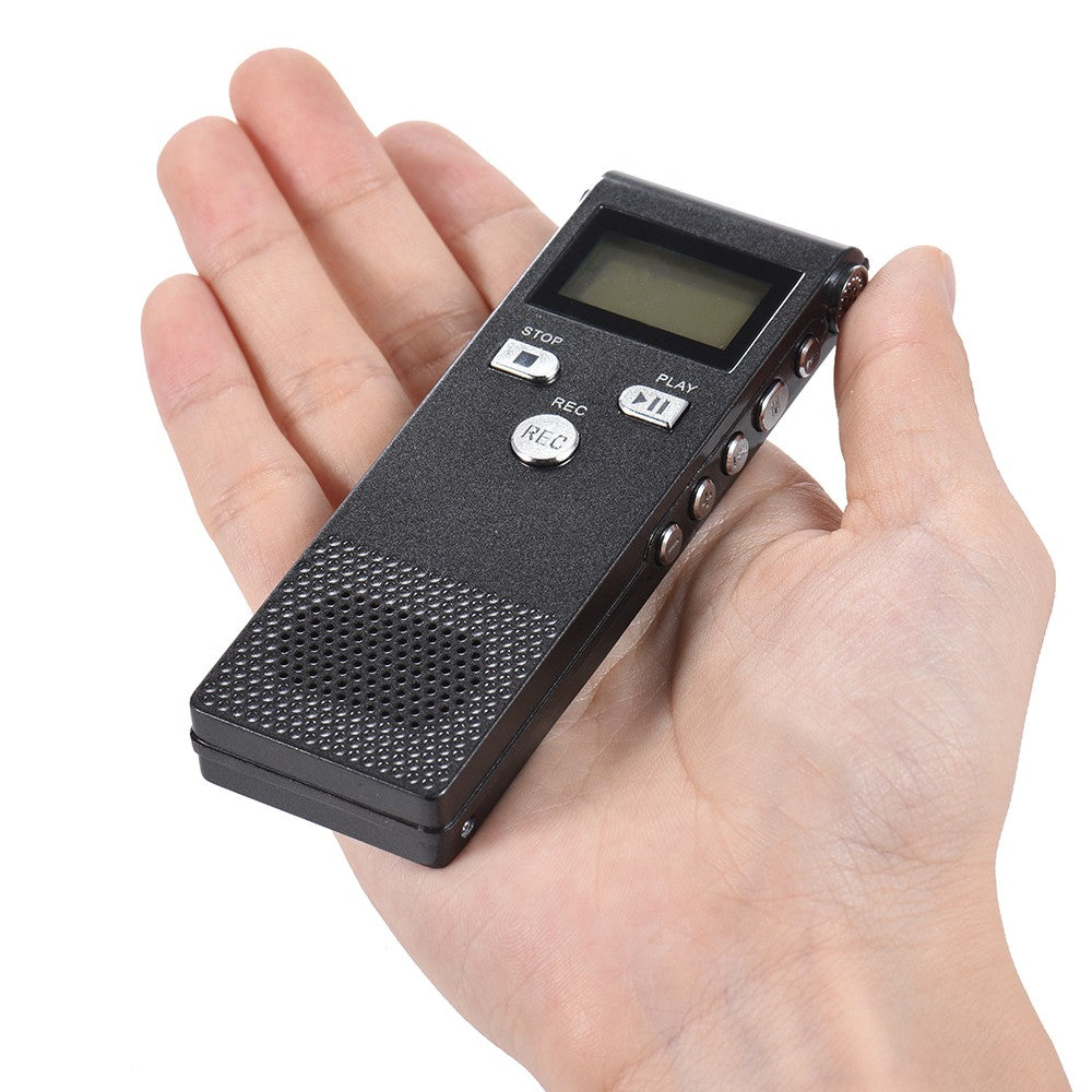 Go2Funlive Professional Voice Audio Telephone Recorder Dictaphone 8Gb Mp3 Music Player Sound Active 384Kbps Supports Multi-Language For Business Meeting Concert Lectures