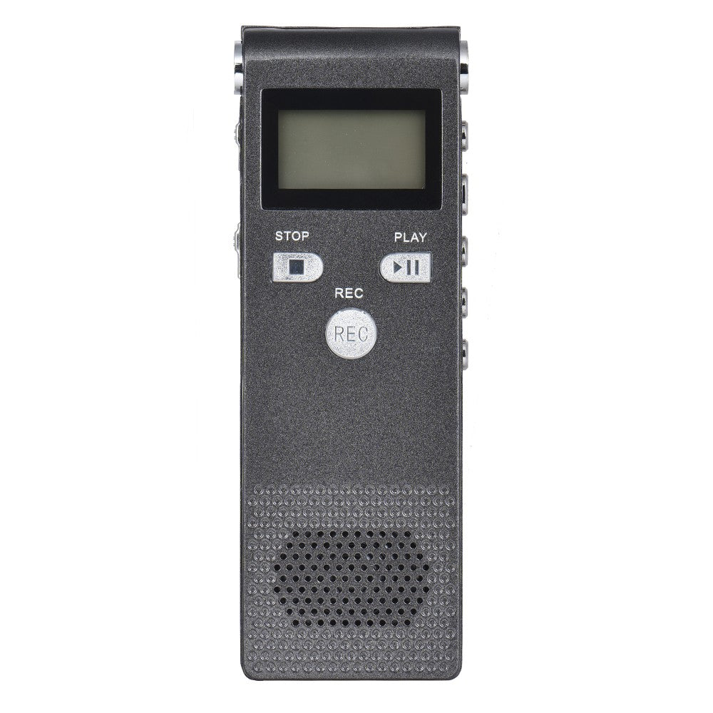 Professional Voice Audio Telephone Recorder Dictaphone 8GB MP3 Music Player Sound Active 384Kbps Supports Multi-language for Business Meeting Concert Lectures