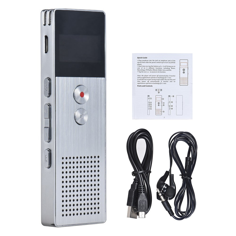 8GB Digital Voice Recorder Dictaphone MP3 Music Player Stereo Sound