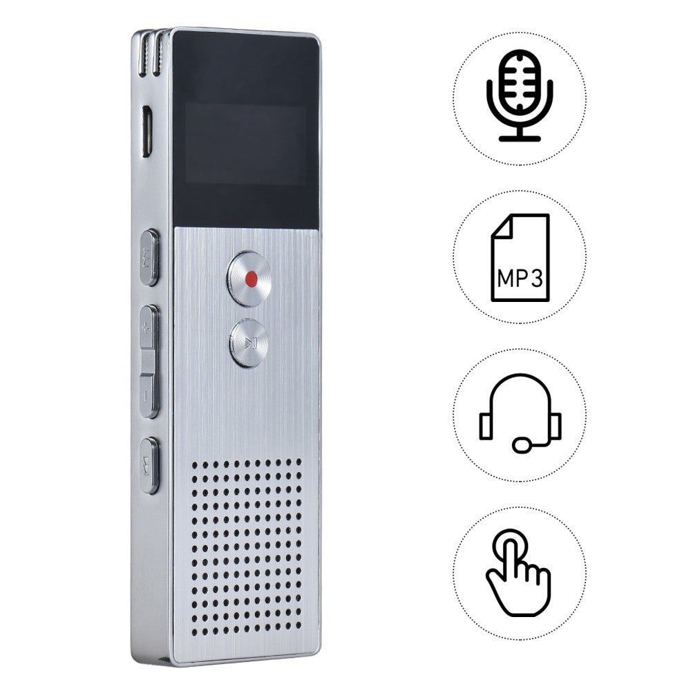 Go2Funlive 8Gb Digital Voice Recorder Dictaphone Mp3 Music Player Stereo Sound