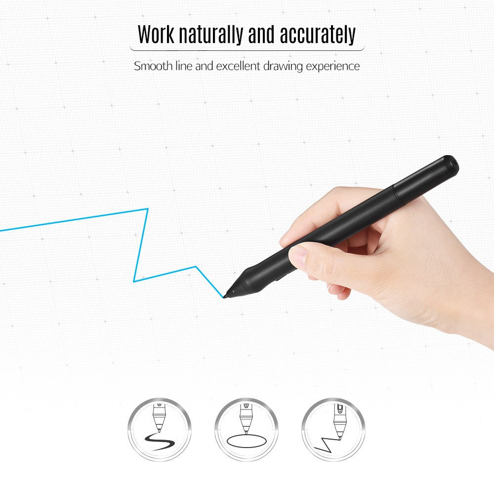 Go2Funlive Ugee P50Sd Rechargeable Stylus Drawing Tablet Pressure Pen With Usb Charging Cable For Ug1910B/ Ug2150/ Hk1560 Tablet (Black)
