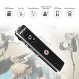 Go2Funlive Philips Vtr5100 Digital Voice Recorder 8Gb Usb Voice-Activated Sound Audio Recorder Dictaphone Mp3 Player For Lecture Meeting Interview