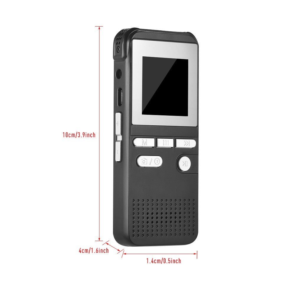 Go2Funlive Hd 1080P Digital Camera Recorder Video Voice Recording Pen Mp3 Player With 1.4 Inch Screen Display Motion Detection Loop Recording For Home Office