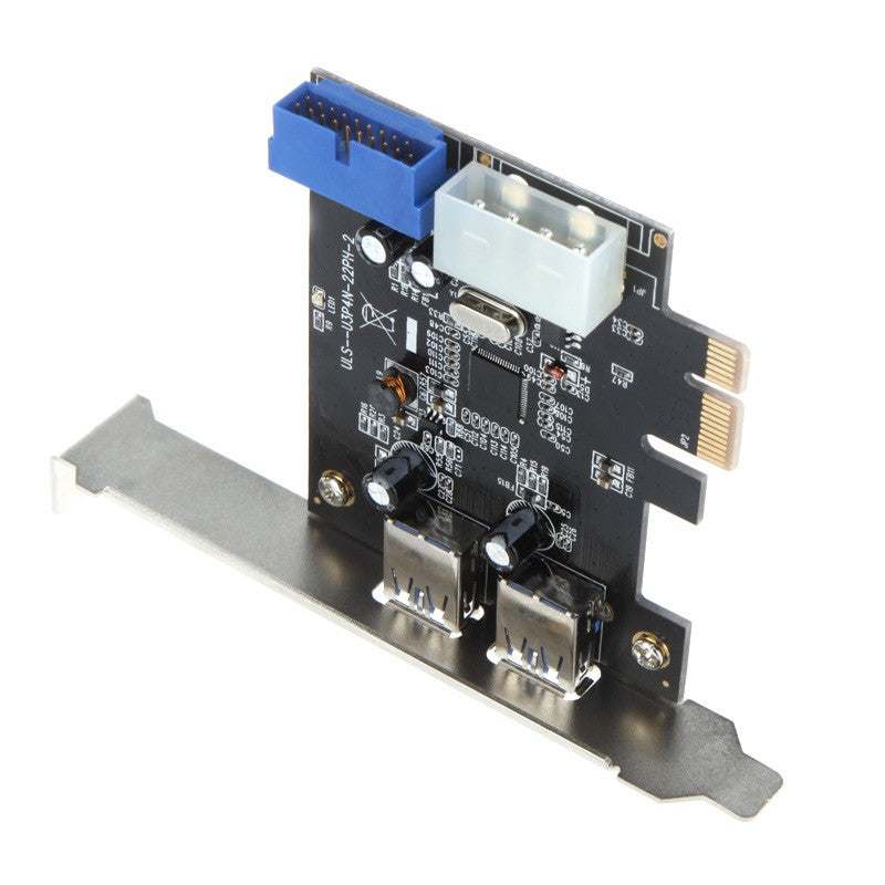 Go2Funlive Superspeed 2-Port Usb 3.0 Pci-E Pci Express 19-Pin Usb3.0 4-Pin Ide Connector Low Profile