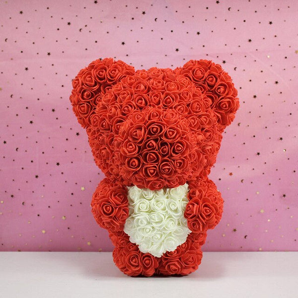Standing Rose Bear - The Rose Bear Factory