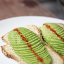 Load image into Gallery viewer, brawn & brains coffee, avocado on toast with slow cooked egg, guillemard menu, mains
