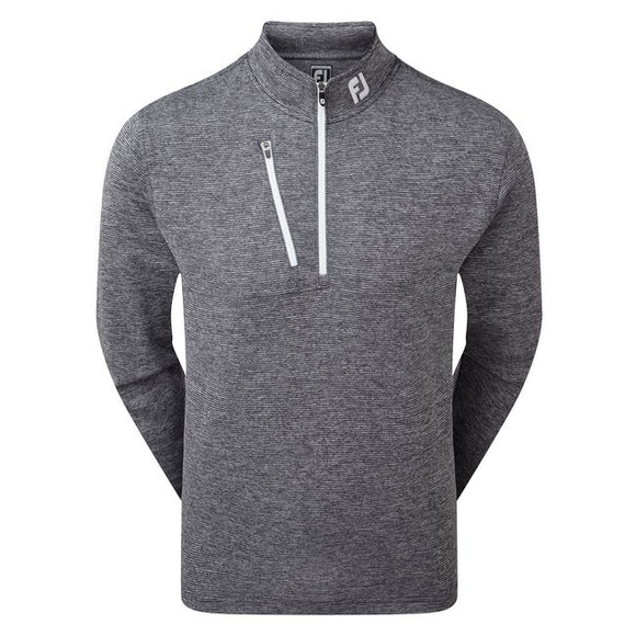 FootJoy Heather Pinstripe Chill-Out Pullover - Millicent Crest Left Chest