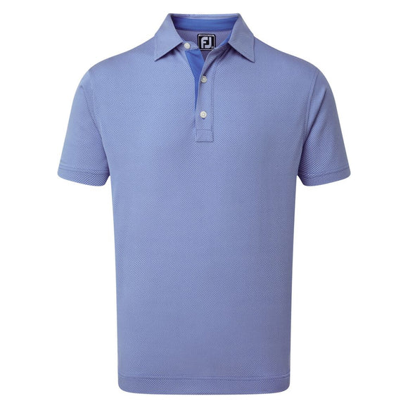 Four Dot Jacquard Polo Shirt - Millicent Crest Left Chest