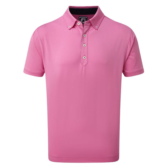 FootJoy Lisle Solid Button Down Golf Shirt