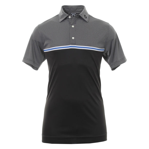Jacquard Top Colour Block Polo Shirt