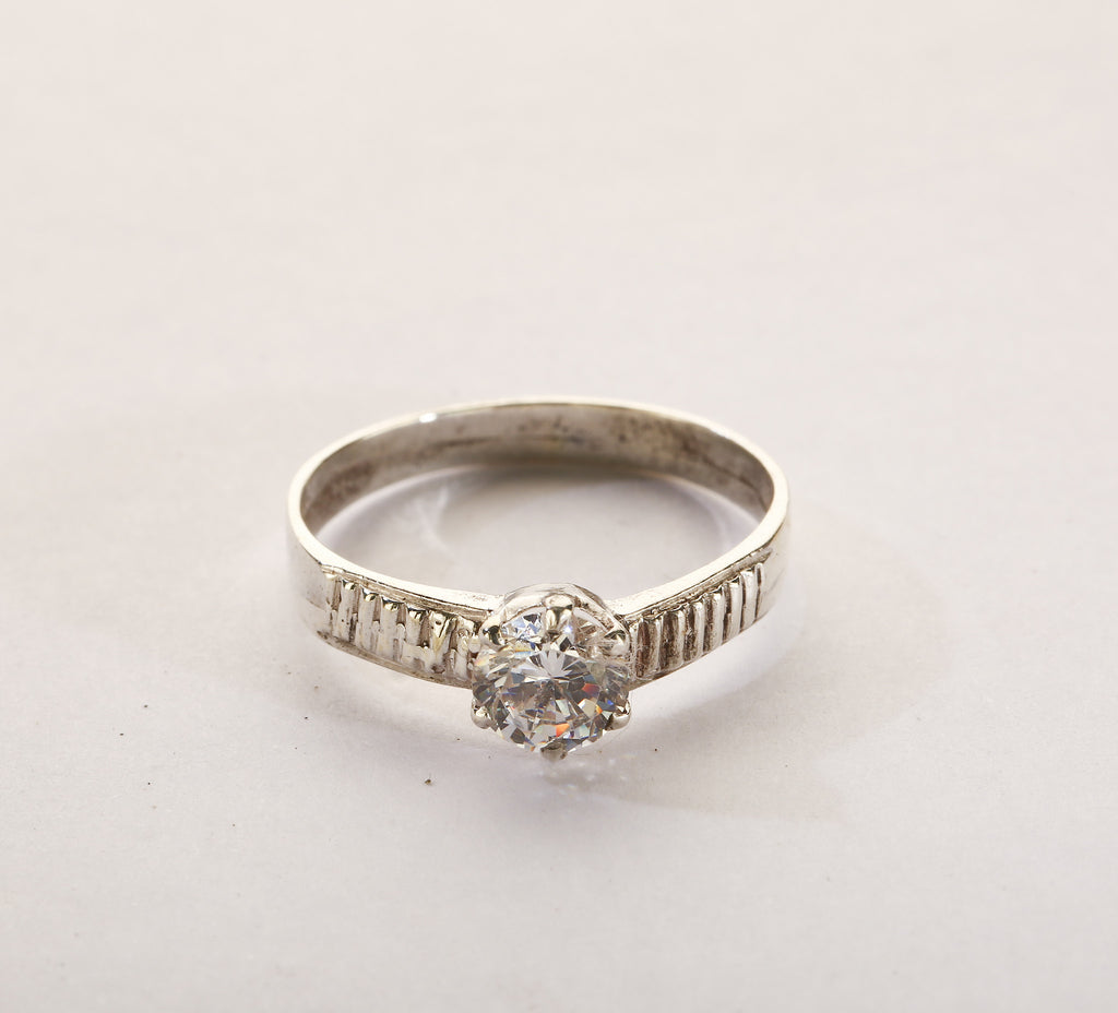 American Diamond Silver Ring