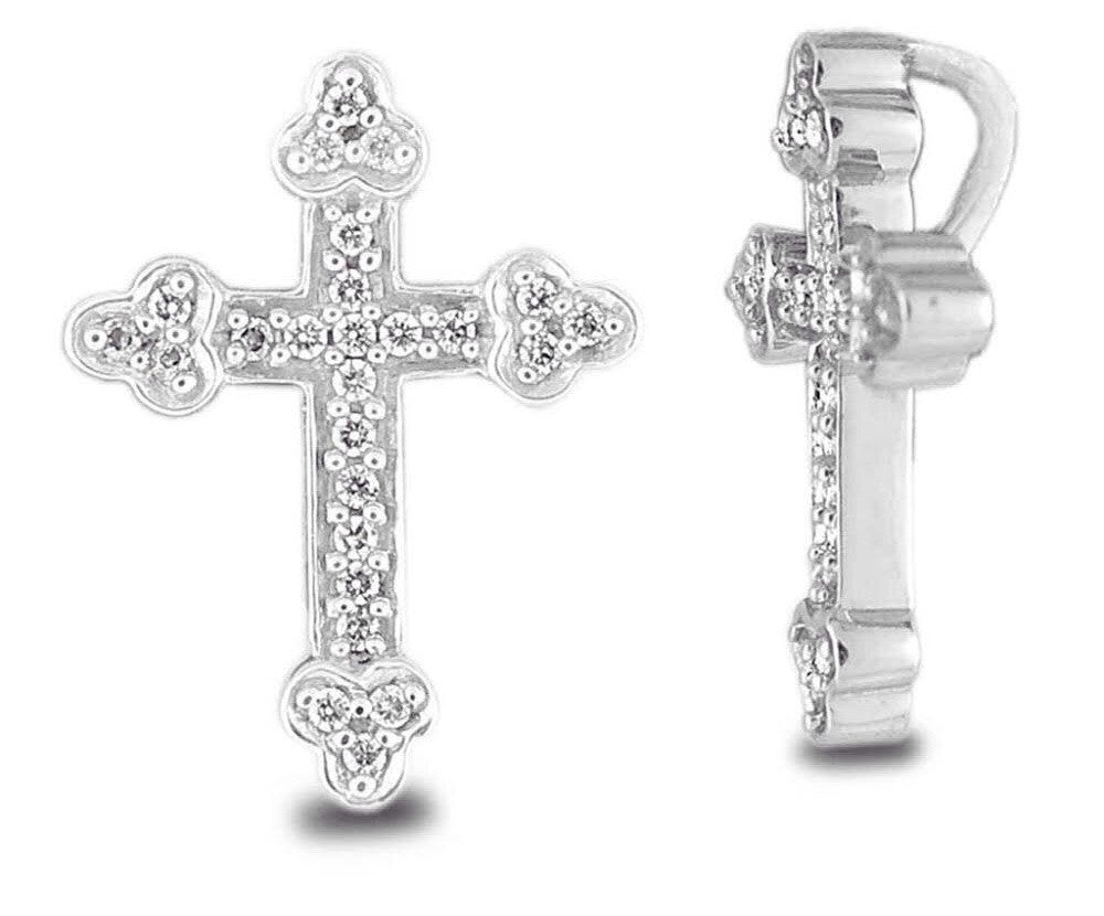 Cross Shaped Light Weight Diamond  Pendant